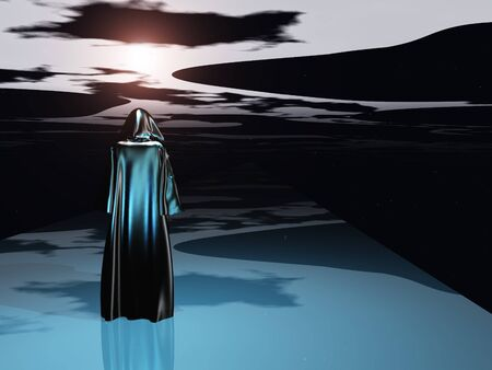 dangers: Cloaked Man before the darkness