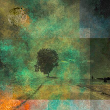 arte abstracto: Resumieron paisaje Foto de archivo