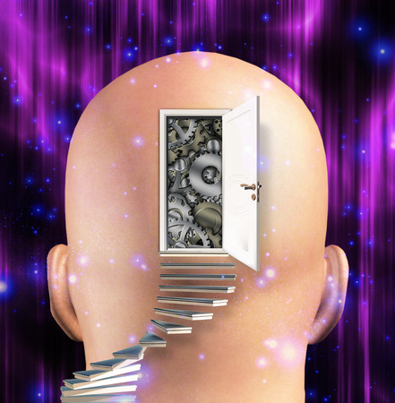 person: Doorway opens to gears in mind