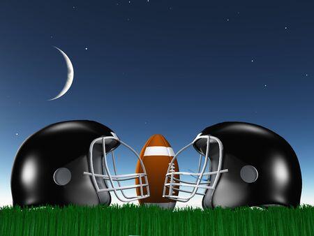 football helmet: Football Helmet Composition Stock Photo