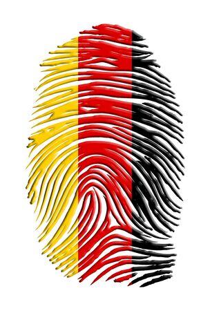 fingerprint: German Flag  Fingerprint Stock Photo