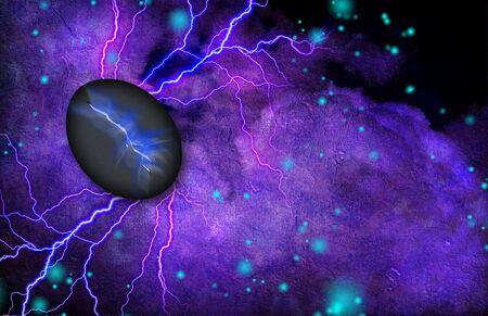 pebble: Cracked Stone Emits Light and Radiates Electricity