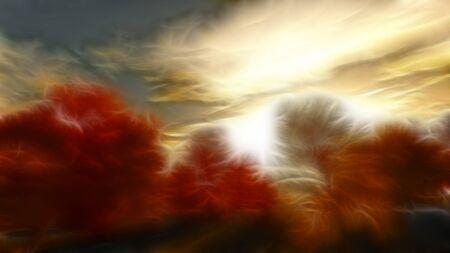 autumn scene: Impressionist autumn scene
