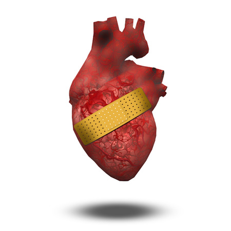 injure: Heart with bandaid