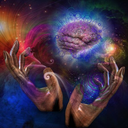 mind body: Galactic Mind Stock Photo