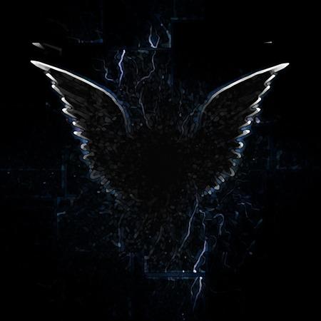 Outline of winged creature Standard-Bild