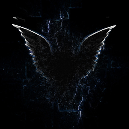 winged: Outline of winged creature Stock Photo