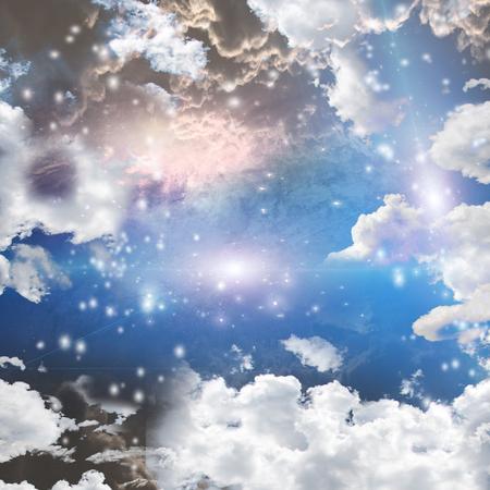 nebula: Bright Nebula, gas and stars Stock Photo