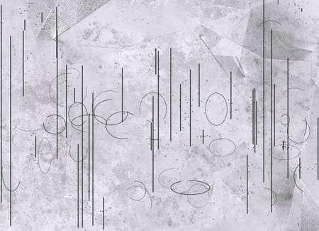 Lines and circles grey
