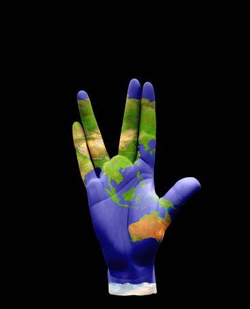 hand gesture: Vulcan Greeting hand gesture
