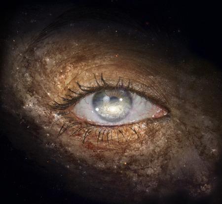 galactic: Galactic Eye Stock Photo