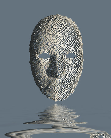 Surreal Face and reflection