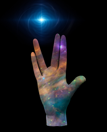 prosper: Live Long and Prosper Stars Stock Photo