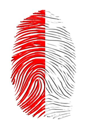 Poland Flag finger print