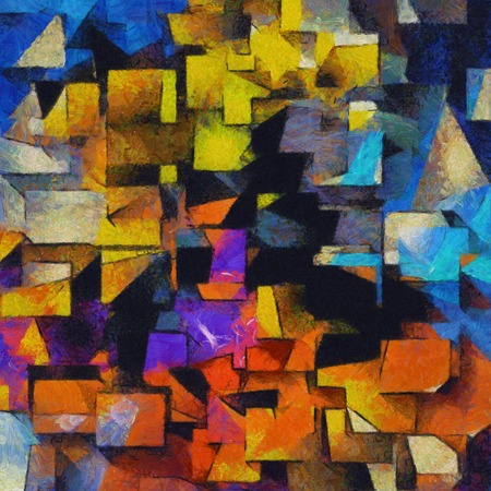 painted background: Painterly Colorful Abstract
