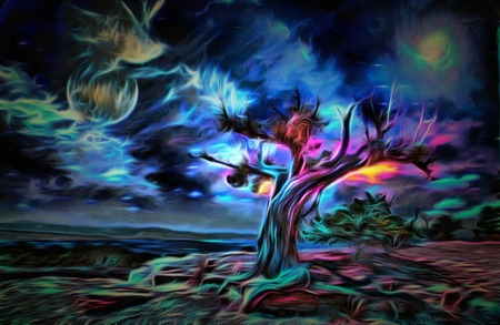 Painterly Desert Tree