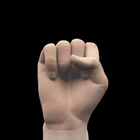 clenched: Clenched fist