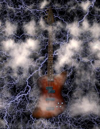 bass guitar: Electric Bass Guitar Stock Photo