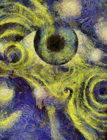 目とヴァン ・ ゴッホ スタイルのパターン