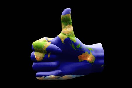 australasia: Australasia Thumbs Up Stock Photo