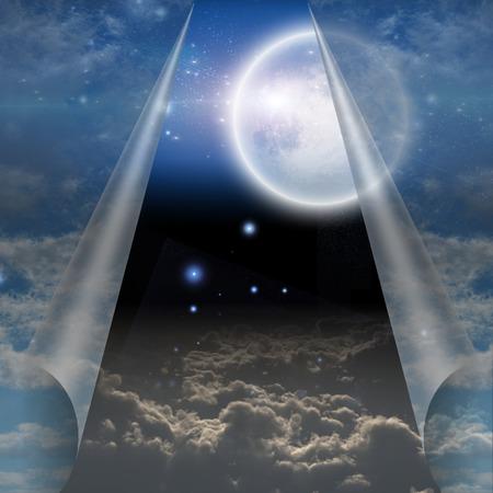 cielo: Velo del cielo abrió para revelar otra Foto de archivo