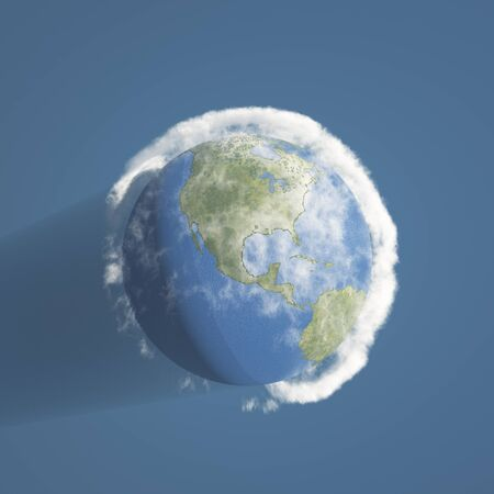 Earth and atmosphere Stock Photo