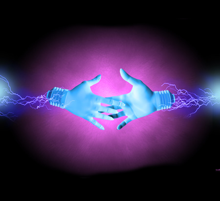 electrocute: Electric hands about to shake