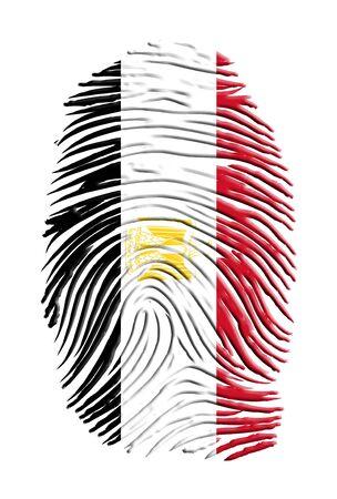 bandera de egipto: Egipto Bandera de huellas digitales
