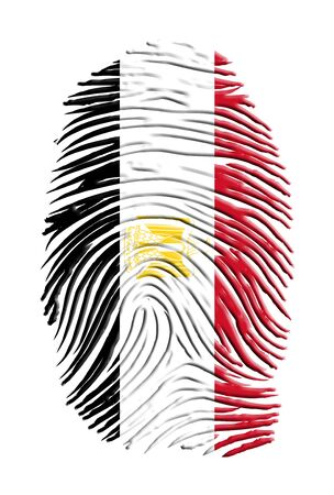 fingerprinted: Egypt Flag Finger Print Stock Photo