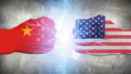 EE.UU. vs China Foto de archivo - 55353748
