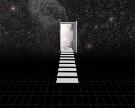 door opening: Door opening to heaven