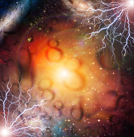 spiritual energy: Eternal abstract background