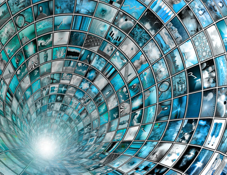 high definition: Broadcast Tunnel abstract background