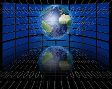 通信: 画面と地球とバイナリ