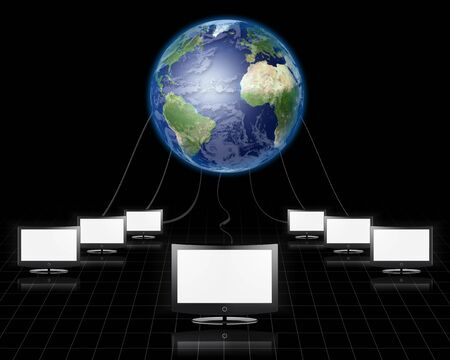 World Wide Web Flat Panel Connected