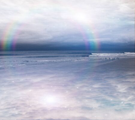 peaceful background: Peaceful ocean scene abstract background
