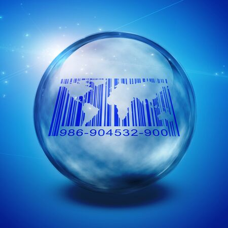 laser tag: World Barcode Captured abstract background Stock Photo