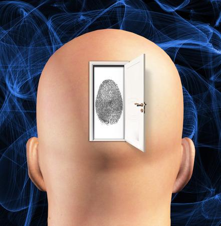 cerebra: Doorway to Ideantity abstract background Stock Photo