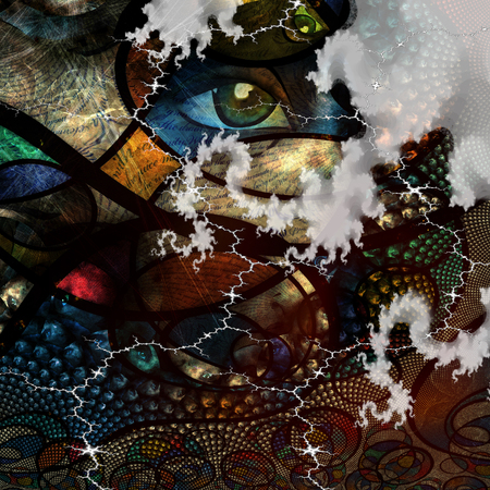 human eye: Abstract Image with text and human eye abstract background