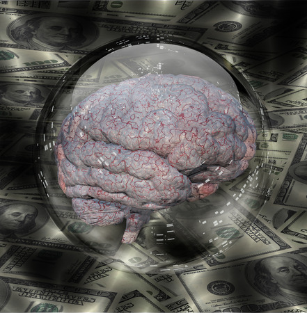 cerebra: Human Brain with Currency Background