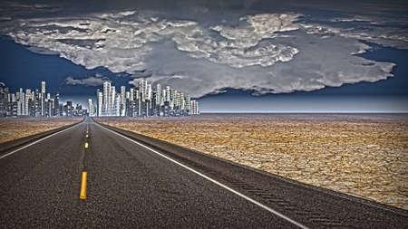 futuristic city: Futuristic City Landscape