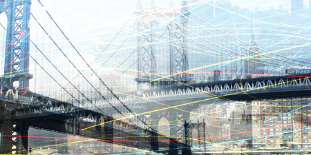 suspension bridge: NYC Composition