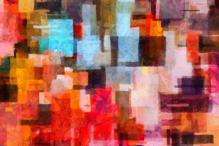 painting style: Colorful abstract painting in artistic style