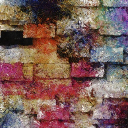 heavily: Heavily Textured Digital Abstract Painting