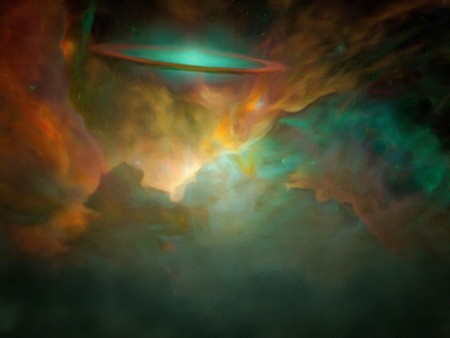 galactic: Galactic Scene filled with nebolous gasses Stock Photo