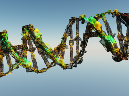 abnormal cells: Damaged DNA Strands Stock Photo