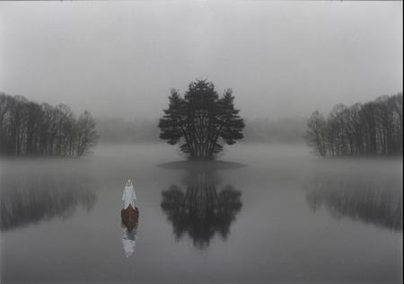 신비한 호수 스톡 콘텐츠