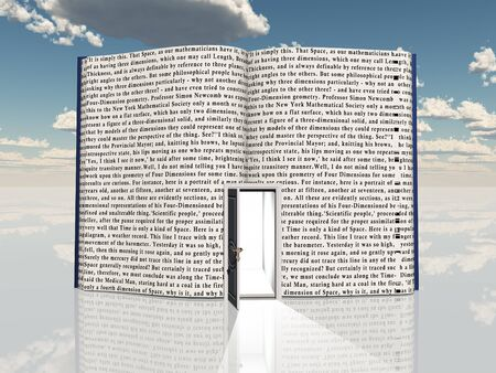 Boek met open deur