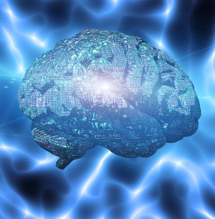 Cervello elettronico Archivio Fotografico - 58750524