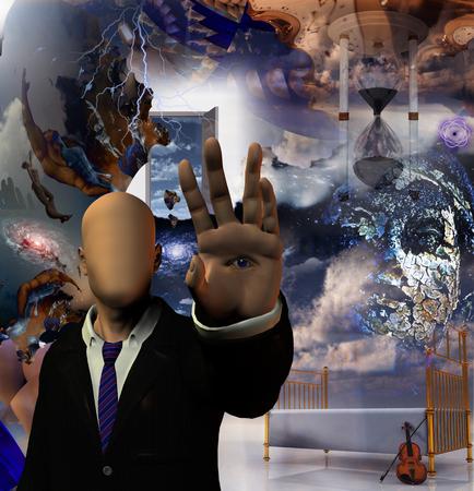 fantastical: Hallucinigenic abstract Stock Photo